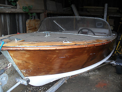 Broom Gemini Classic Wooden Speed Boat 1959