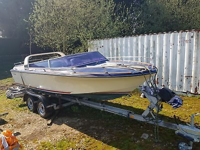 Broom Capricorn 1984 Classic Speed Boat Project With Trailer Boats